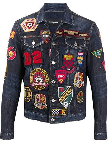 DSQUARED2 Luxury Fashion Herren S74AM1079S30664470 Blau Baumwolle Jacke   Herbst Winter 20