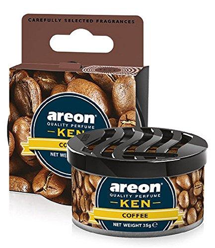 Areon Ken Lufterfrischer Dose Auto Kaffee Autoduft Duft Duftdose Wohnung Erfrischer 3D ( Coffee Pack x 1 )