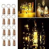 Herefun 12 x 20 LEDs Bouteille Lumières, Herefun Guirlande lumineuse Blanc Chaud 2M Lampes de Bouteille Lumière Liège Bouchon de bouteille pour Bouteille DIY,Fête,Décor,Noël,Barbecue,Mariage,Cadeaux