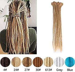 Blonde Dreadlocks Extensions for Women 20inch Handmade Dreadlocks Extensions Reggae Hair for Hippie Crochet Braiding Hair (pack of 12,24#)