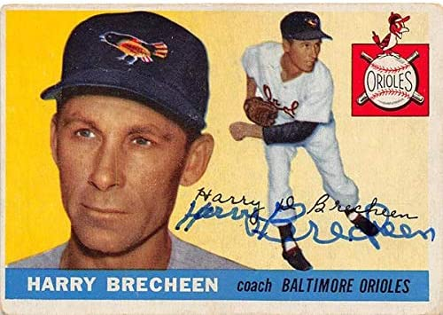 Autograph Warehouse 653375 Courier shipping free shipping Harry Autographed Brecheen 2021 model Baseball C