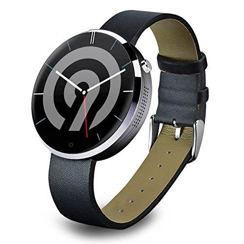 Ninetec Smart9 G2 Smart Watch voor Android en Apple iOS met hartslagmeter, stappenteller, slaapanalyse, zilver
