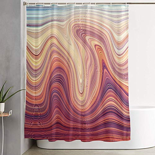 KGSPK Waterproof Polyester Shower Curtain,Design Element. Hi-res Image. Marble Texture,Cloth Fabric Bathroom Decor Set with Hooks,180 x 180 cm