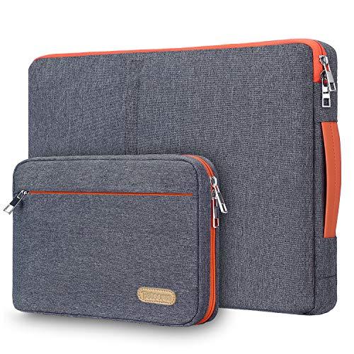 """Betoores 15 15,6 Zoll Laptoptasche Laptophülle, Wasserdicht Notebooktasche Laptop Schutzhülle Sleeve mit Zubehör Tasche Kompatibel mit 15"""" MacBook Pro 15,6"""" Acer Asus Dell HP Lenovo, Dunkelgrau"""