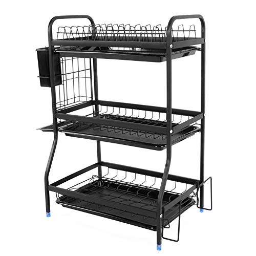 Dish Drainer Tableware Rack Corrosion Resistance Stainless Steel Dormitories Drain Dishes for Cutlery Fruits