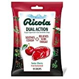 Ricola Dual Action Cough Drops Cherry 19 drops Pack of 3 - Packaging May Vary