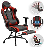 Computer Gaming Chair PC Ergonomic Office Chair Home Executive Desk Chair Adjustable High-Back