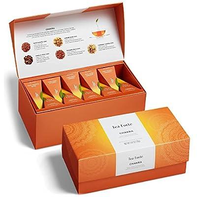 Tea Forte Presentation Box Presentation Box Tea Sampler Gift Set, 20 Assorted Variety Handcrafted Pyramid Tea Infuser Bags