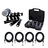Shure DMK57-52 Drum Microphone Kit + (4) XLR Cables Bundle (8 items)