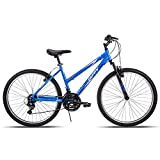 Huffy Hardtail Mountain Trail Bike 24 inch, 26 inch, 27.5 inch, 26 Inch Wheels/17 Inch Frame, Ocean Blue Gloss