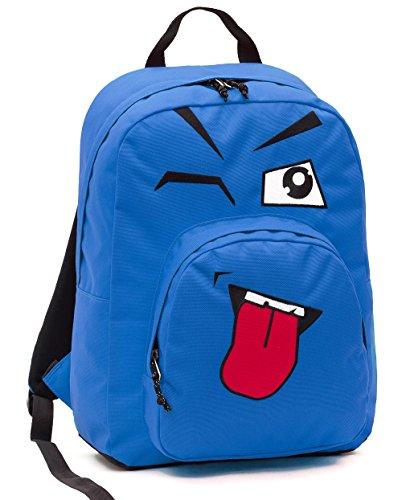 ZAINO INVICTA - OLLIE PACK FACE - Blue linguaccia - tasca porta pc padded - scuola e tempo libero americano 25 LT