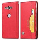 MOHAMED Puilé Texture de la Peau Texture Horizontale Étui en Cuir pour Sony Xperia XZ2 Compact,...