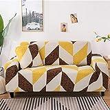 PPMP Funda de sofá elástica con patrón geométrico Fundas de sofá elásticas con Todo Incluido para Sala de Estar Funda de sofá Fundas de sofá A8 2 plazas