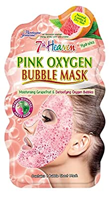 7th Heaven Pink Oxygen Bubble Mask with Refreshing Grapefruit and Detoxifying Oxygen Bubbles for Quick Cleansing Hydration