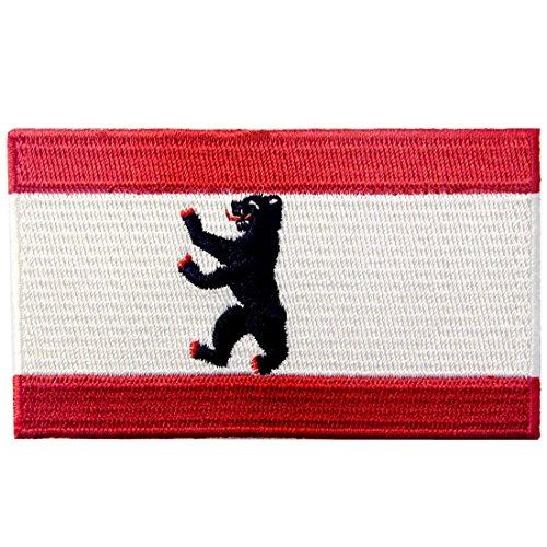 Berliner Stadt Flagge Deutschland Flicken Bestickter Aufnäher zum Aufbügeln/Annähen