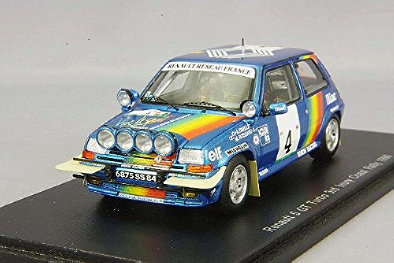 Spark–S3860–Renault R5GT Turbo–Rallye Cote d 'Ivoire 1990–Mastab 1 43–Blau Metall