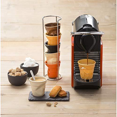 Revol - Tasse cappuccino unie en porcelaine Couleur - Clémentine, Tailles - H. 8,5 x Ø 8,5 cm - 18 cl