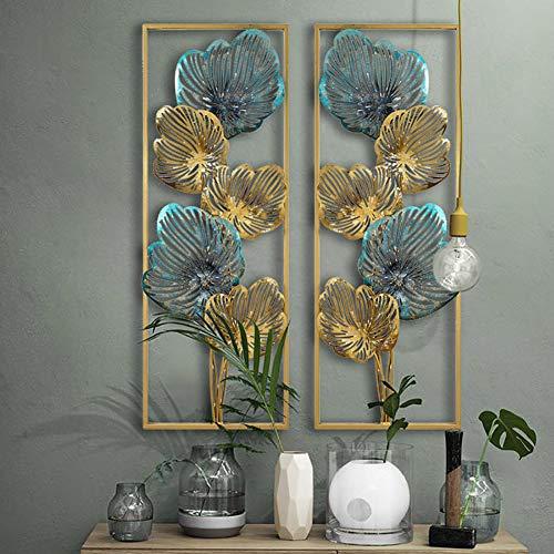 khevga Decorazione da parete 3D in metallo cerchi grandi 74 x 28 cm