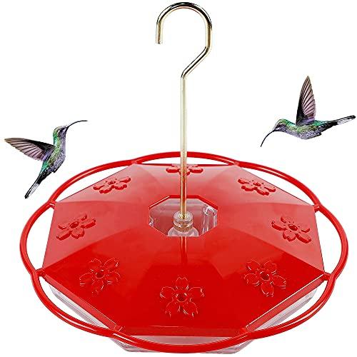 Juegoal Hummingbird Feeder with 8 Feeding Ports, Hanging Design for Birds Lover, Perfect for Outdoor Patio Garden(16 oz)