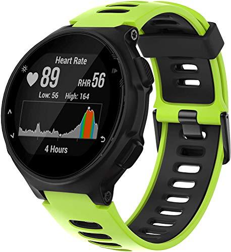 Gransho Compatible con Garmin Forerunner 235 / Forerunner 735XT / Forerunner 220 / Forerunner 230 Correa de Reloj, Banda de Reemplazo Silicona Suave Sports Pulsera (Pattern 5)