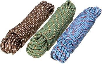 Clothes Nylon Braided Cotton Rope (20 m, Multicolour) -3 Pieces