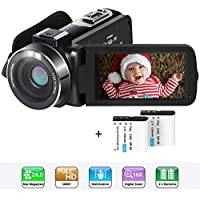 Actinow Full HD 1080p SDXC/SDHC/SD Digital Camcorder with 16x Digital Zoom and 2 Batteries