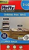 Hefty Vacuum Seal SHRINK-PAK BAG , 34' x 22', 2 Large Bags (Large)