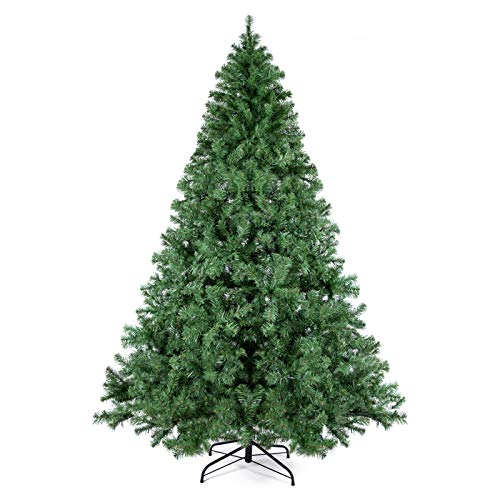WBHome XMT-0001-75 7.5 Feet Premium Spruce Hinged Artificial Christmas Tree, 1250 Branch Tips, Unlit, 7.5FT, Green