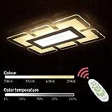 MJZHJD Araña Modernos for el hogar Iluminación LED de la lámpara Transparente Cuadrado del Color Ligero Caliente de la luz Ajustable con Control Remoto (Color : Warm Light)