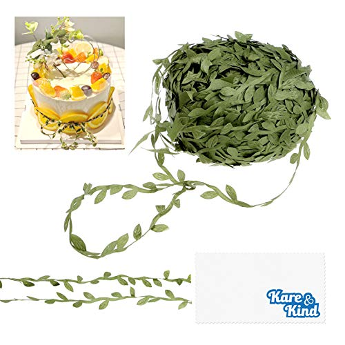 Kare & Kind Artificial Vine - 80 Meters (262 Ft.) - Green Faux Hanging Plant Leaves - For Home, Office, Party, Wedding and Christmas Decoration - for DIY, Arts, Crafts - Wall Decor, Ribbon, Wreath