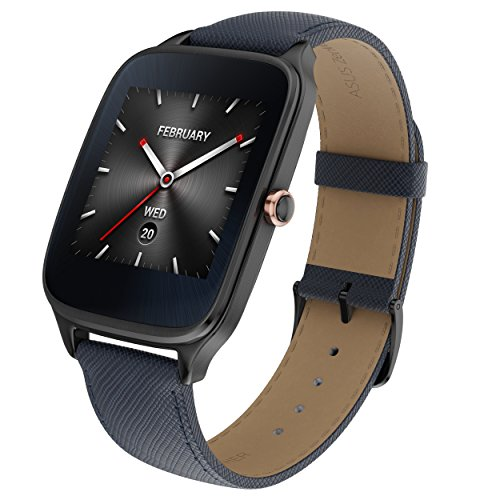"Asus WI501Q(BQC)-2LBLU0015 - Smartwatch de 1.63"" (Qualcomm Snapdragon, 512 MB RAM, 4 GB eMMC, Bluetooth, WiFi, Android Wear, Acero Inoxidable), Azul Oscuro"
