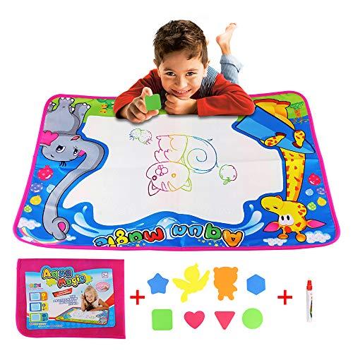 ABEDOE Wasser Zeichenmatte, Aquarell Magie Wasser Zeichenmatte Malerei große Doodle Pad pädagogische Kinder Spielzeug Kleinkind Malerei Board Zeichnung Zubehör Jungen Mädchen (72×52cm)