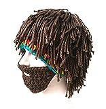 Da.Wa Vagabond Bild Lustige Hüte Wintermütze mit Bart für Weihnachtstag oder Eine Maskerade - 3