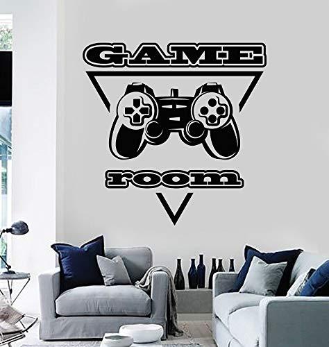 Wopiaol Vinyl Muurtattoo PC Speler Joystick Videospel Speelkamer Sticker Muurschildering Speel Fan Teen Boy Slaapkamer Wooncultuur