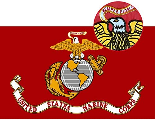 N B Embroidered Marine Corps Military Flags 3x5 Outdoor Heavy Duty American USMC Flag Double product image