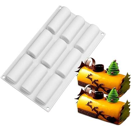 nero, 3pack brownies pasticcini stampo semisferico di cioccolato per muffin Coomazy Stampo in silicone 3 pezzi stampo in silicone antiaderente con 6 cavit/à budini