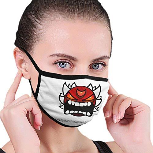 Geometrie Dash Gesicht Mundschutz Schützen Sie Bequeme atmungsaktive Sicherheit Luftnebel Outdoor Fashion Half Face Shield - für Mann und Frau
