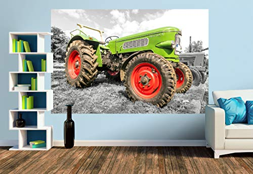 Premium Foto-Tapete Oldtimer Trecker Fendt Favorit 3 (versch. Größen) (Size M | 279 x 186 cm) Design-Tapete, Wand-Tapete, Wand-Dekoration, Photo-Tapete, Markenqualität von ERFURT