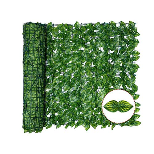 Artificial Ivy Privacy Fence Screen, Artificial Leaf Fence Net Expanding Willow Trellis With Leaves or Outdoor Decor, Garden, 39' x 118'