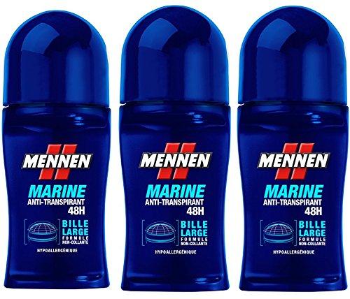 MENNEN MENNEN Déodorant Bille Marine Anti-Transpirant 48h Homme 50.0 ml , Lot de 3