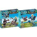 Playmobil HIPO Y Astrid con Bebé Dragón + Astrid con Globoglob