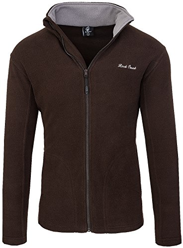 Rock Creek Herren Fleecejacke Sweatjacke Herrenjacke Übergangsjacke H-139 [Brown M]