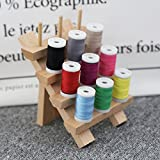 HJR Wooden Storage Thread Rack/Jewelry Organizer Wall Mount Made of...