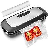 LOFTer Macchina sottovuoto 6 in 1 per alimenti umidi, sigillatrice automatica per sottovuoto Sous Vide, con rotoli di pellicola da 20 x 500 cm
