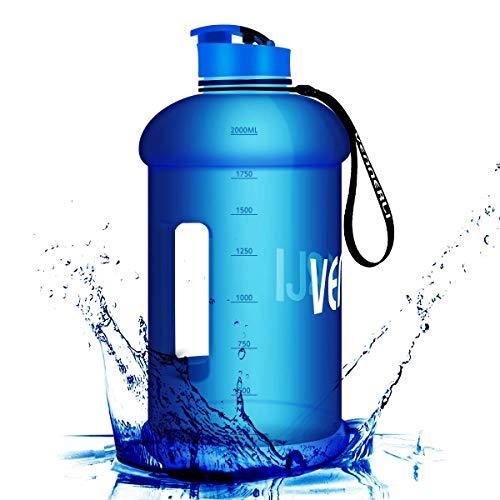 VENNERLI 2,2L Trinkflasche Sport Gym Bottle BPA Frei Fitness Training Groß Plastik Wasserflasche Sportflasche mit Griff Fitness Auslaufsicher Ideal für Sport Gym Fitness Büro Heim (Blau)
