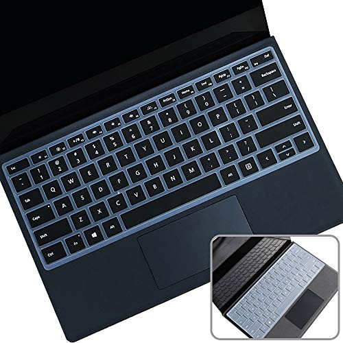 2Pcs Keyboard Cover Fit 2020 2019 Microsoft Surface Pro 7, 2019 2018 Surface Pro 6 Premium Ultra Thin Soft Touch Keyboard Protective Skin(Not fit Pro 5 4), US Layout