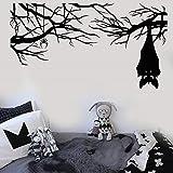 zqyjhkou Vinyl Wandtattoo Cartoon Gothic Spinne Fledermaus Auf Zweig Halloween Aufkleber Home Wohnzimmer Fenster Aufkleber Wsj15 78x42 cm