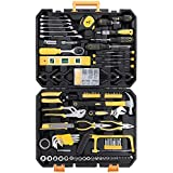 FIXKIT 216 Piece Household Tool Kit, Home Repair Tool Set, General Household Hand Tool Kit with Plastic Storage Tool Box