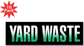 CafePress - Yard Waste Sticker (Black Series) Bumper Sticker - 10