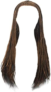 Willsa Fashion Charm Women Synthetic Hair Braided Lace Front Wig Long Black Ombre Braid Wigs